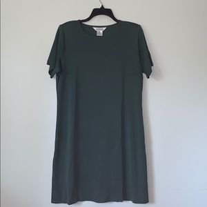 MISOOK hunter green short sleeved sweater dress